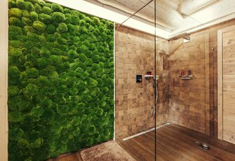 Moss wall bathroom